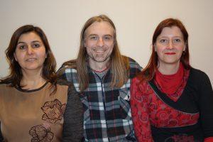 Am 14.01.17 wurde der Vorstand der Fraktion DIE LINKE & PIRATEN neu gewählt. Das Bild zeigt den wiedergewählten Vorsitzenden Utz Kowalewski (DIE LINKE) mit seiner 1. Stellvertreterin Nadja Reigl (rechts, Piratenpartei) und der 2. stellv. Vorsitzenden Nursen Konak (links, DIE LINKE).